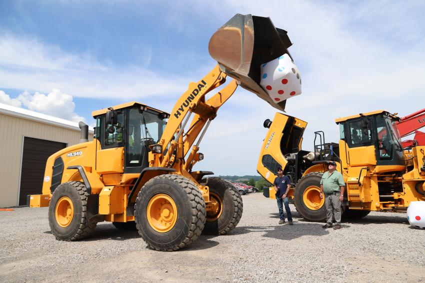 When you're purchasing a Hyundai loader it's never a roll of the dice, but just this once, doesn't it look like fun?