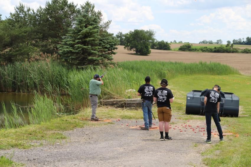 As in previous years, this year's event featured a trap shooting competition.