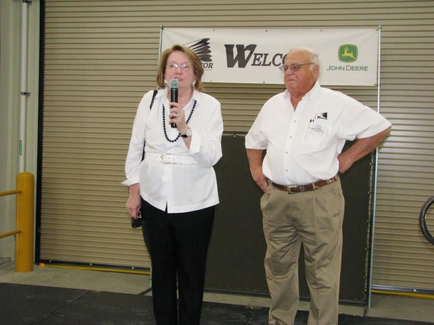 Glennette and Gene Taylor were extremely excited to address their friends and dignitaries at the event and to express their sincere thanks for their customers' trust and continued business.