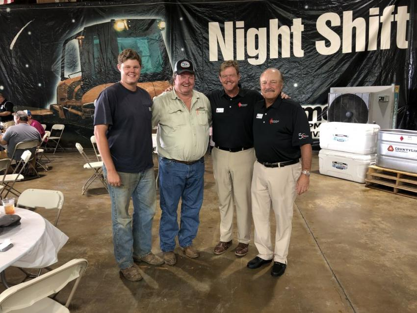 (L-R): Martin and Mike Mofield of Mofield Brothers Construction in Carthage, Tenn., along with Bobby Cyrus and Dave Clement of Diamond Equipment.