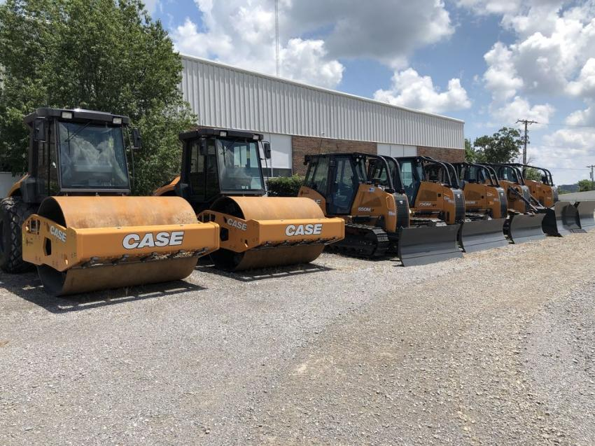 The company had Case dozers, compactors and other products for its guests to look over.