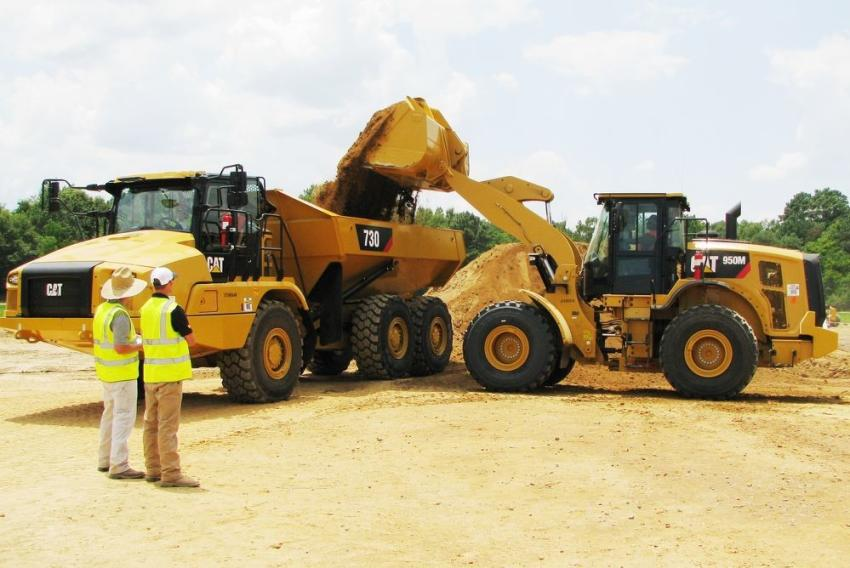 The Fully-Loaded competition utilizing a Cat 950M wheel loader with production measurement technology was extremely accurate in measuring to an exact target weight.