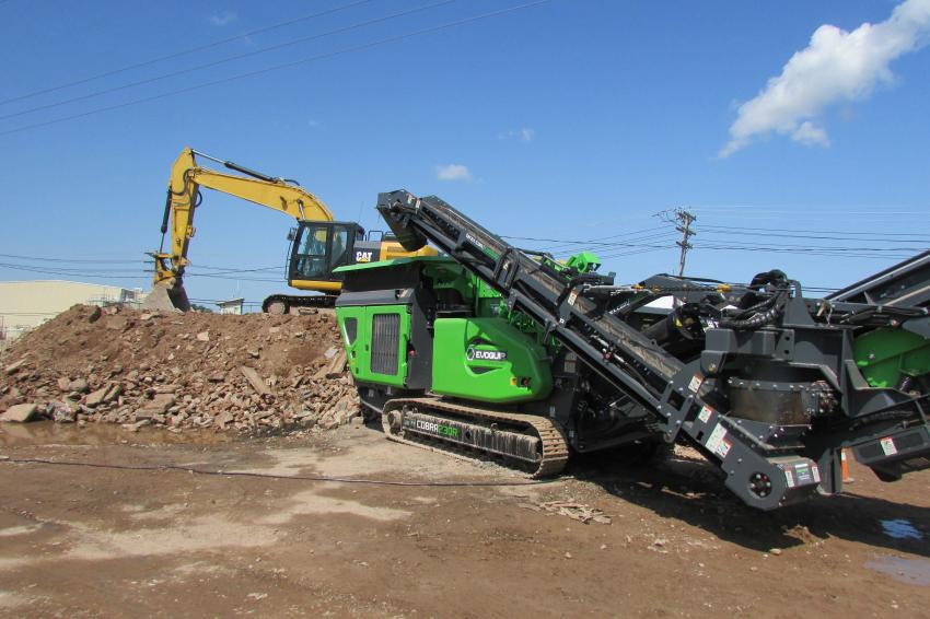 Terex Evoquip presented demonstrations of its crushers and screeners July 24 and 25 in. Bridgewater, N.J.