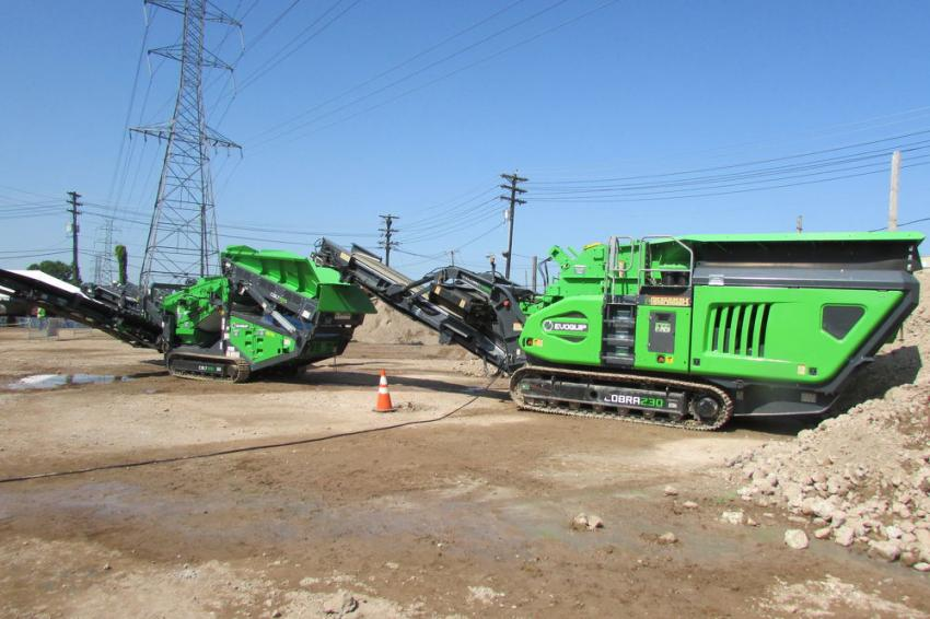 A Terex Evoquip Colt 600 and Cobra 230 were among the models demonstrated during the event.