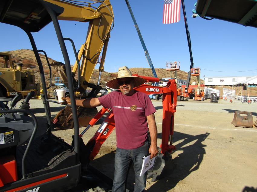 This Kubota KX41-SV mini-excavator captured the attention of Juan Nieves, who is looking to expand his contracting business in Riverside, Calif.