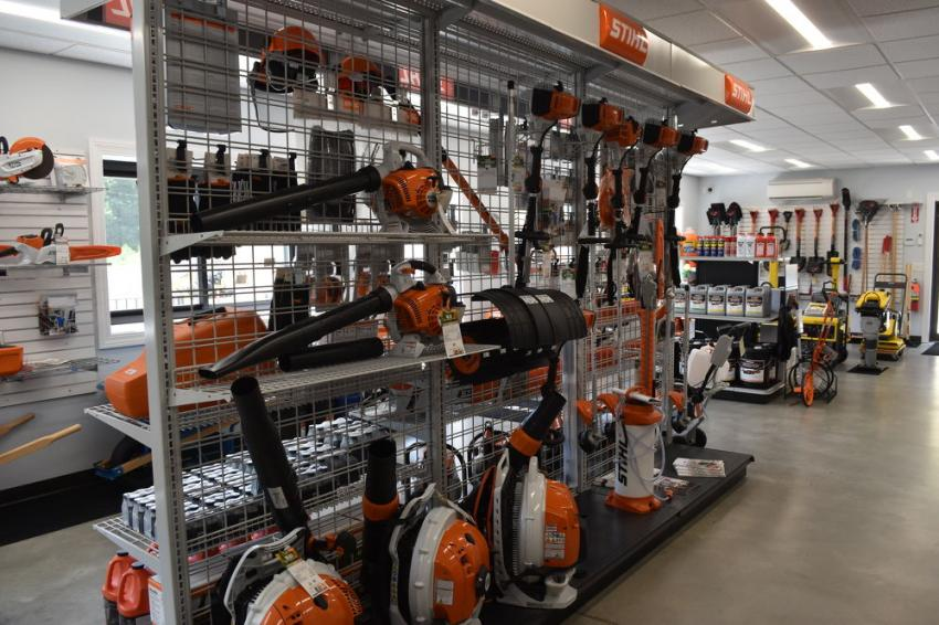 The full line of Stihl power products are on the shelf at Equipment East's new Bow, N.H., location.