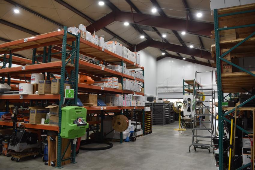 Equipment East's parts department has already inventoried a large variety of parts, with more arriving every day.
