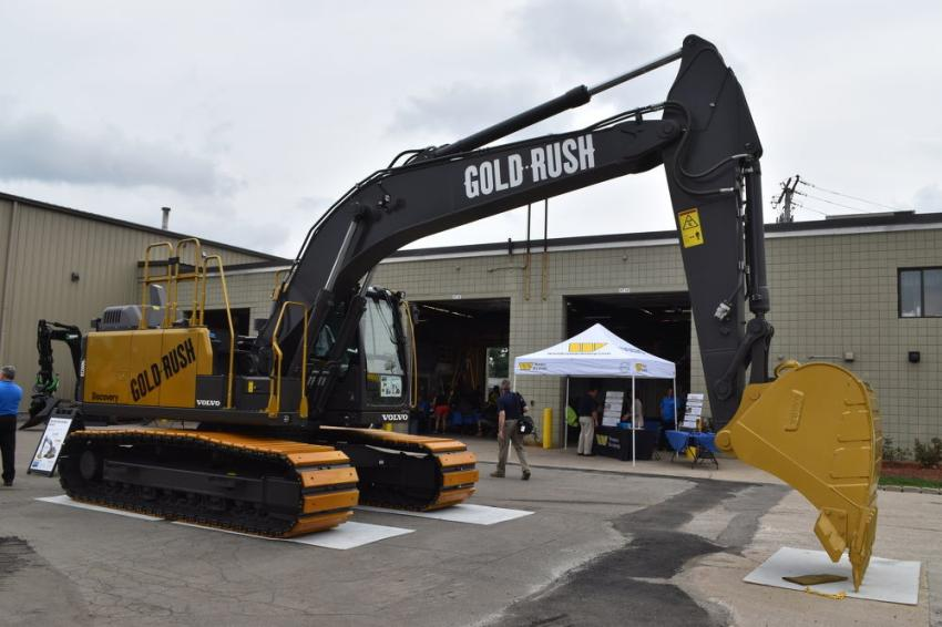 The Gold Rush excavator was proudly displayed as the centerpiece of the event.