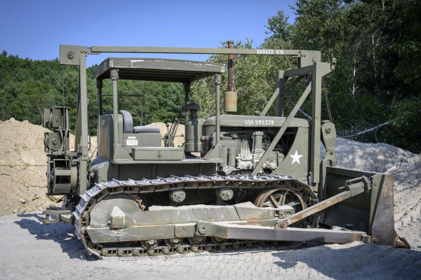 This 1945 Caterpillar dozer was originally used in the United States Army.
