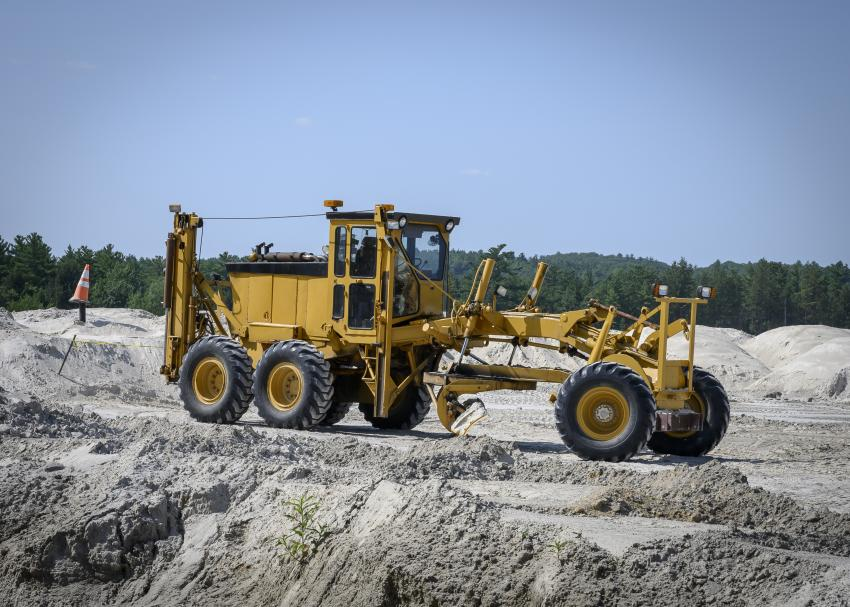 A Caterpillar motorgrader was available for members to operate at one of the many stations throughout the grounds.