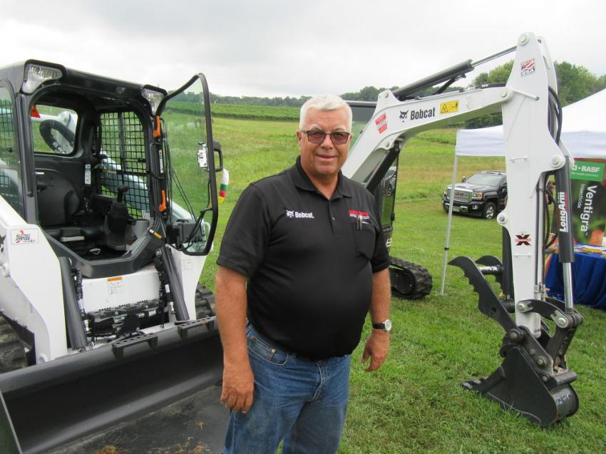 Bill Kusmierek of Leppo Rents had several Bobcat machines ready to address the needs of nursery growers at the show.