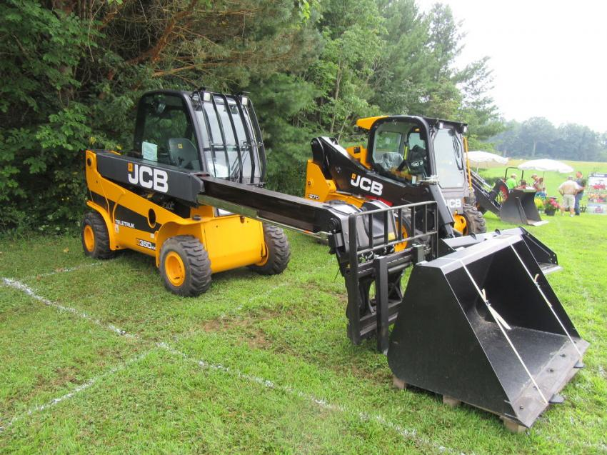 Burns JCB had several machines on display at the NGLCO event.