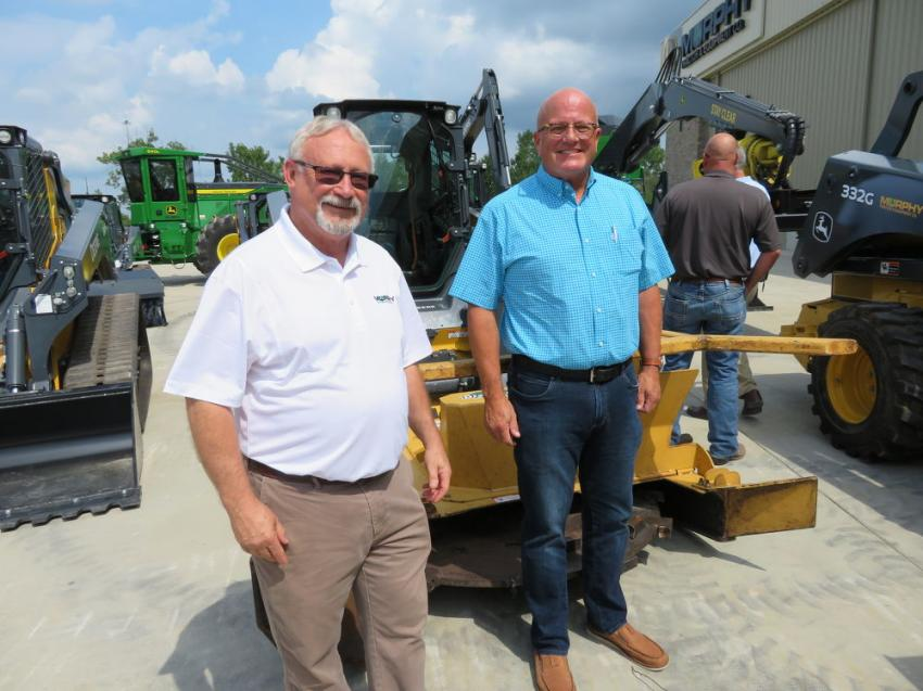 Randy Bates of Murphy Tractor & Equipment Co., with Dwight Pigg of Diamond Mowers.