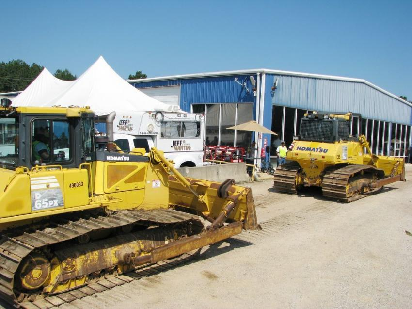 A big package of Komatsu dozers made their way across the auction ramp throughout the day.