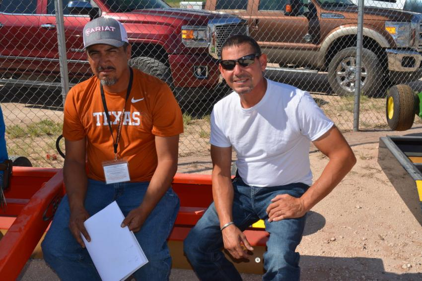 Iron Bound's huge selection of big trucks brought Carlos Navarette (L) and Cruz Ortega to Seminole from Hobbs, N.M. They are launching a trucking company, Big N Logistics.