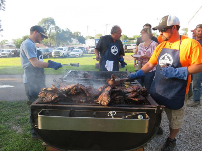 There were over 735 steaks served at the annual event held in St. Joseph's Park, Joliet, Ill.