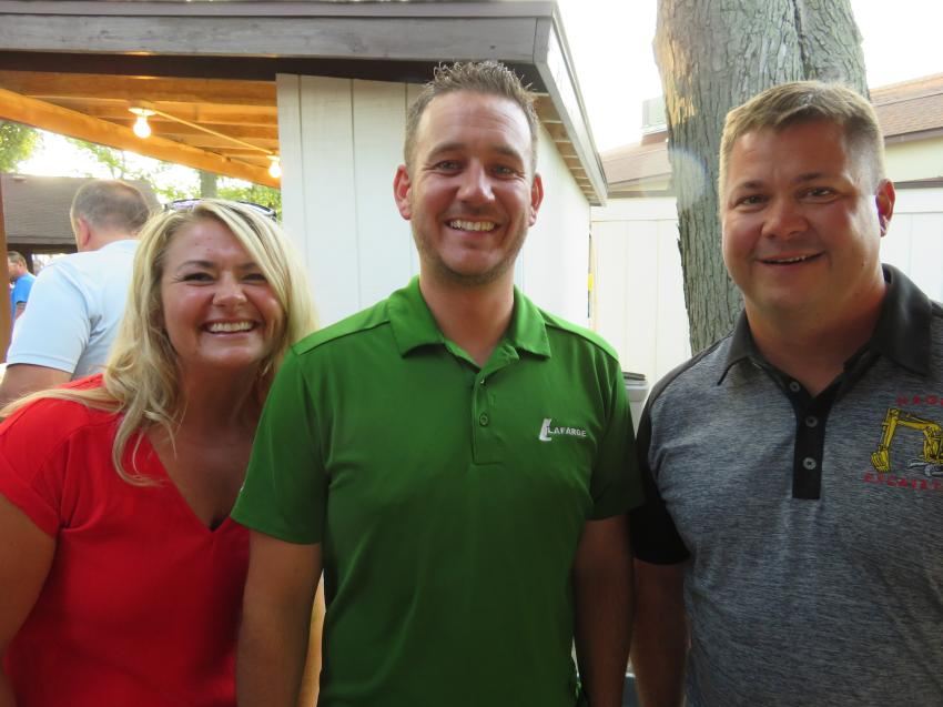 (L-R) are Melissa Olson of Morris Country Club, Colin Glennon of LaFarge Aggregates of North America and Jim Hager of Hager Excavating.
