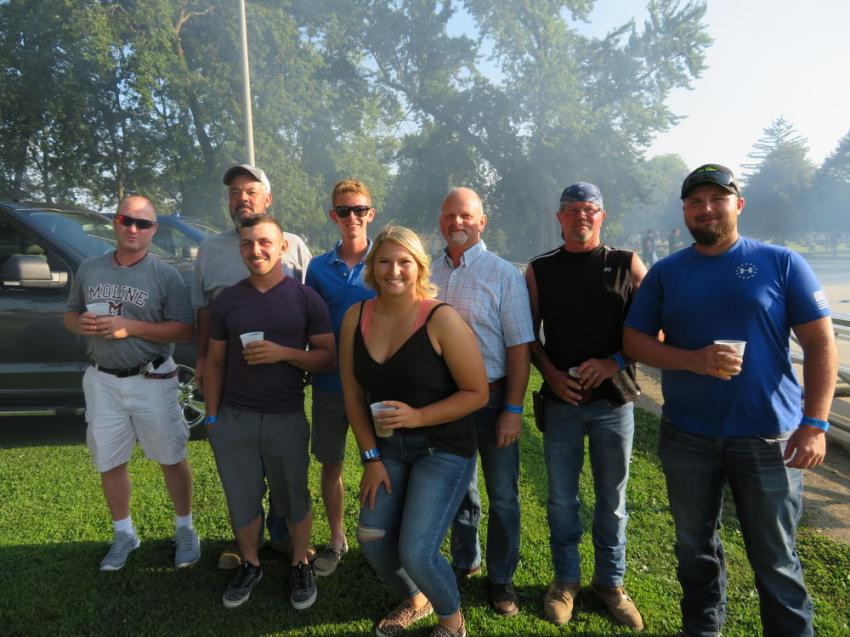 The group from Stip Bros Excavating Inc. having fun at the annual Steak Fry in Joliet, Ill.