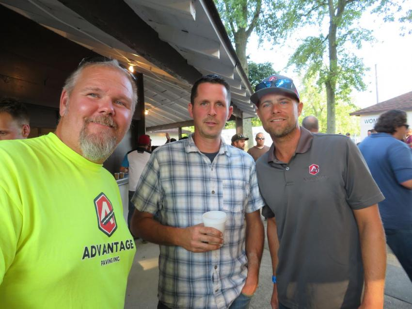(L-R) are Mike Wisneski of Advantage Paving Solutions, Rick Castle of K&D Landscaping Construction Inc. and Jeff Swanson of Advantage Paving Solutions.