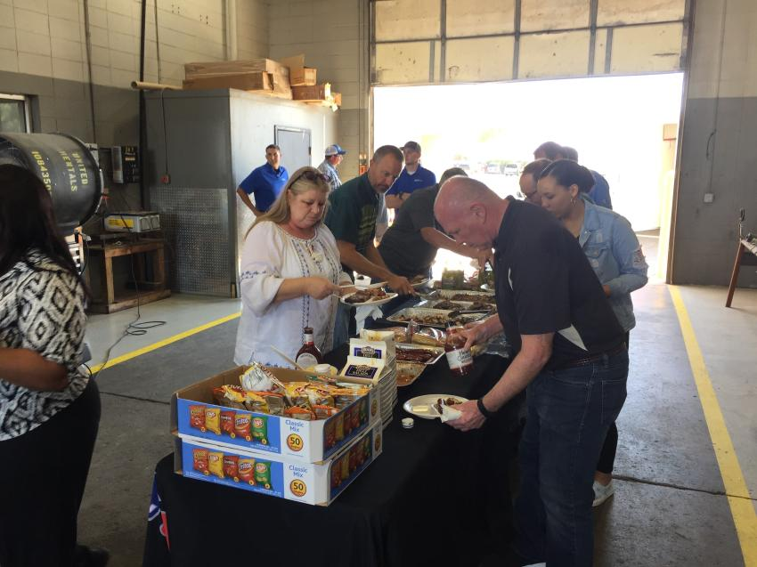 Guests were treated to a BBQ lunch at Central Power System's open house.