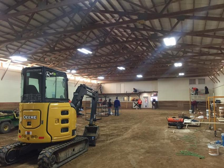 Barn reconstruction project for Operation Wild Horse.