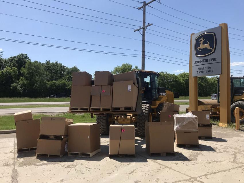Donations shipping out from the West Side team to the Jesse Brown V.A. Hospital.
