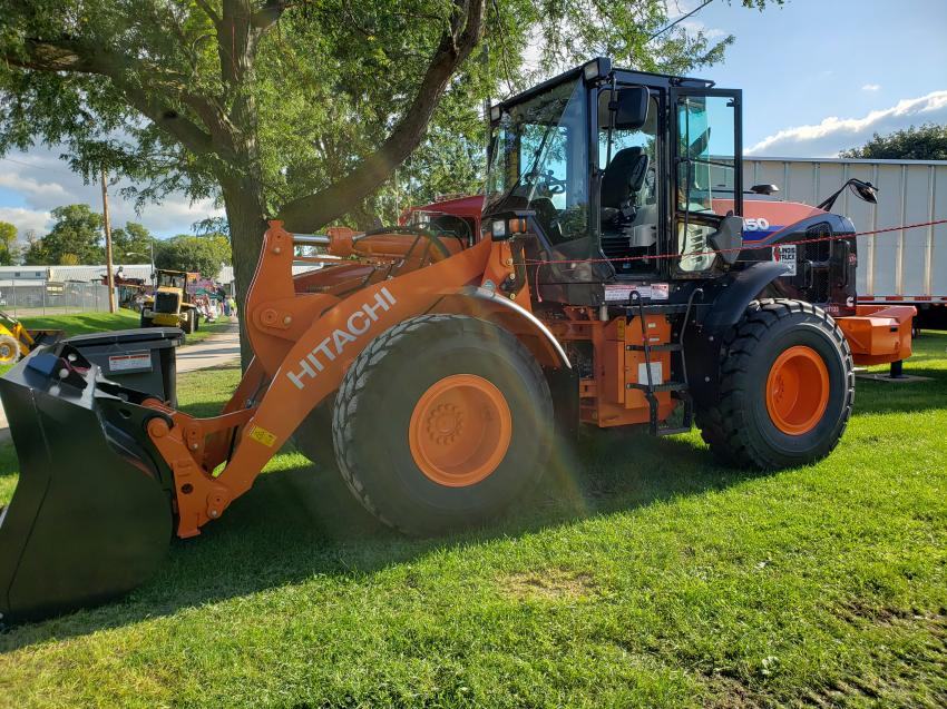 Illinois Truck and Equipment bought this Hitachi Z W150 wheel loader to the Sandwich Fair.