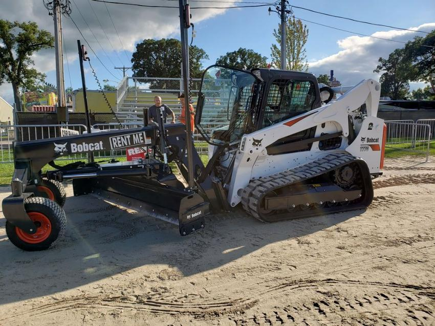 A Bobcat T770 track skid steer with a grader attachment from CSR Bobcat was a hit at the Sandwich Fair.