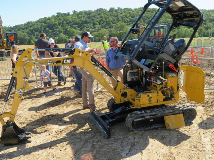 The Cat 301.7CR mini-excavator features very easy access to make repairs.