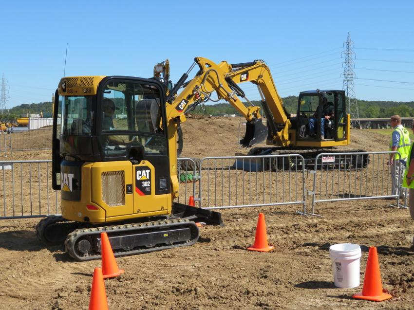 Customers had the opportunity to operate the new Cat next generation mini-excavators.