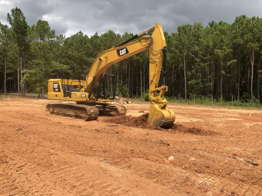 An operator from Raleigh running the Next Generation Cat 320 excavator.
