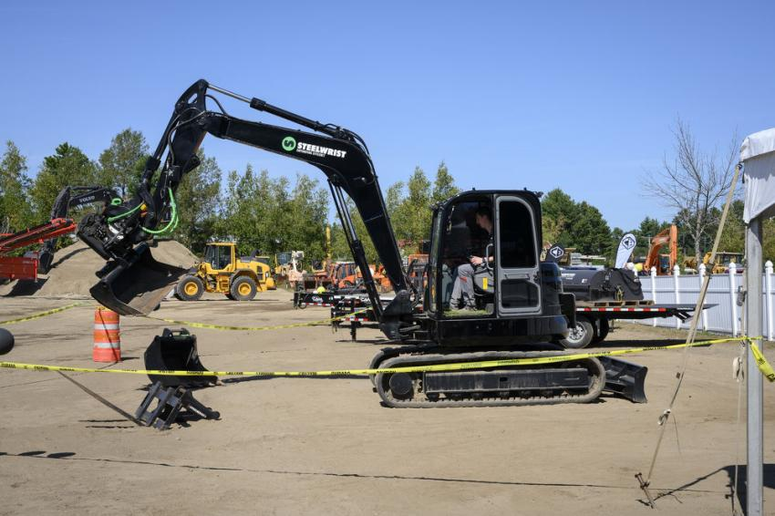 This Volvo ECR88 excavator is available for guests to test.