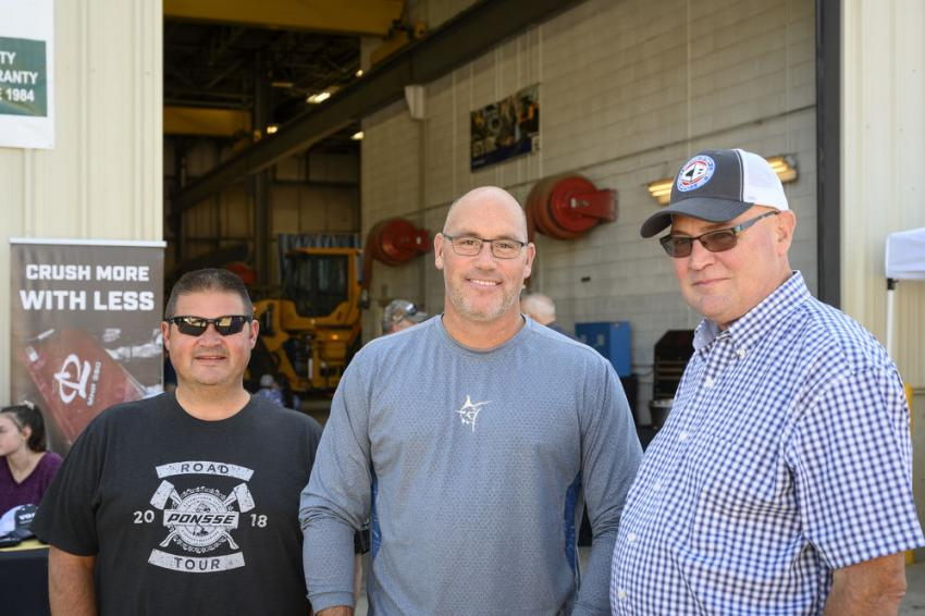 (L-R) are Jeremy Jordan, Cole Leavitt and Gary Thebarge, all of the Chadwick-BaRoss team.
