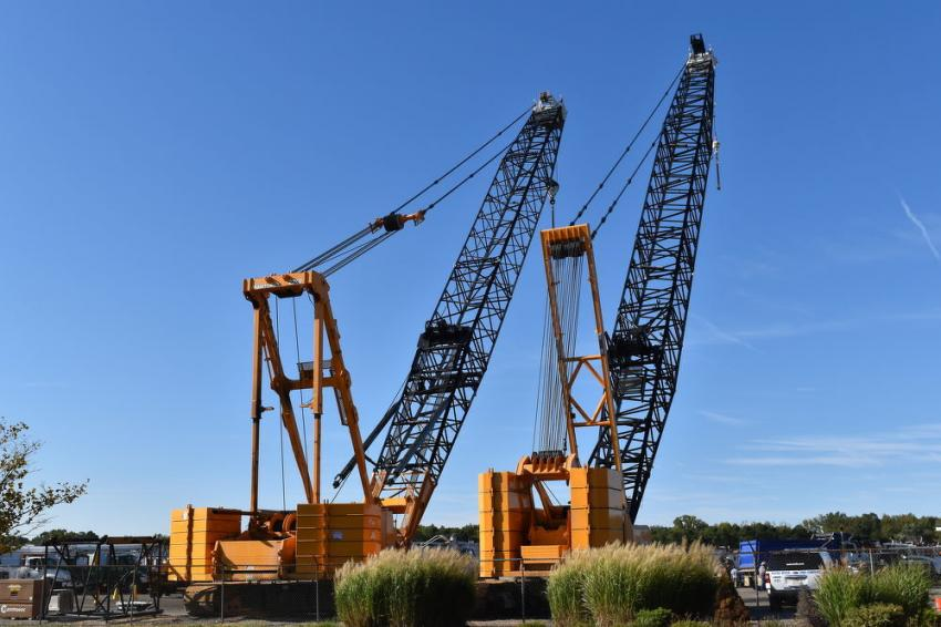 Two Manitowoc cranes are set to go on the auction block.
