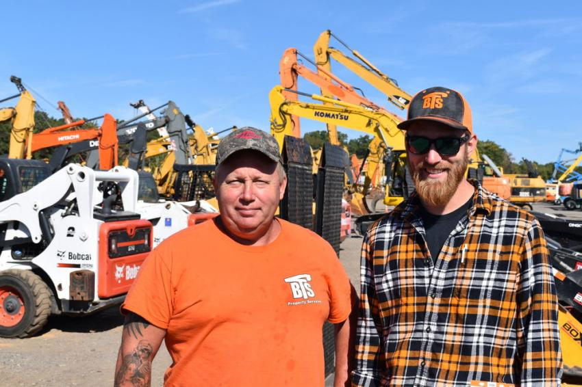 "Todd Griffith, the ""Everything Man"" and Nick Lonkowski, owner, both of Bucket Truck Services (BTS), travelled from Mountville, Pa., for the sale."