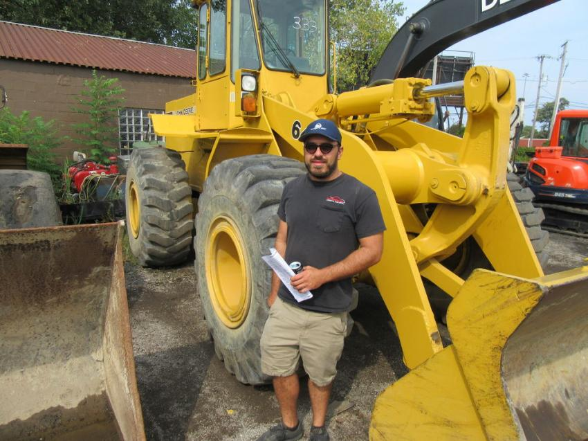 Michael Camaglia of Enterprise Avenue Auto Sales was hoping to add some construction equipment to his yard.