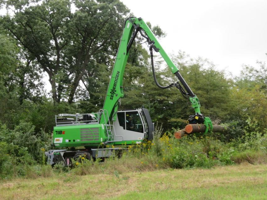 The Sennebogen 718E did some tree cutting at the Howell Tractor & Equipment demonstration on Sept. 17 in LaSalle, Ill.