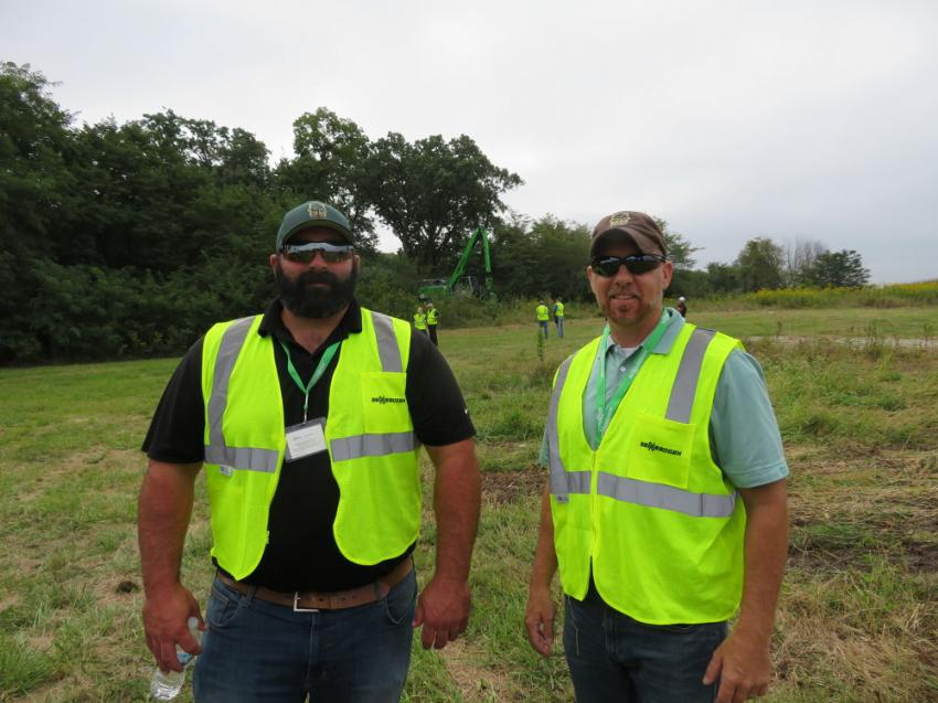 Joe Weldon (L) and Rick Clendenny of Wright Tree Service made it a point to attend the demonstration.