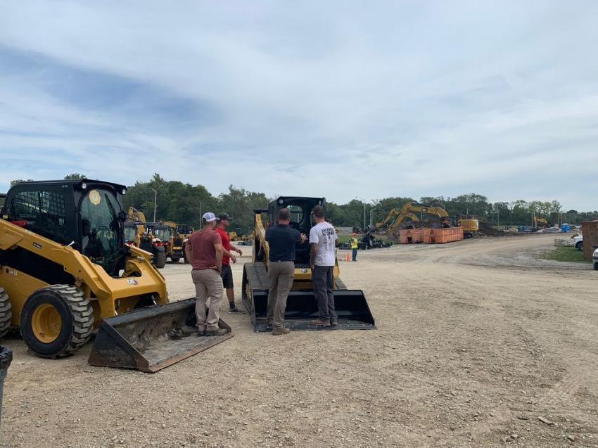 A 262D3 skid steer loader also was present for customers to hear about features and improvements on the machine.