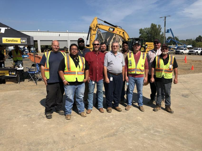 (L-R) are Michael Craig, Javier Padilla, Charles George, Michael Deal, Mike Parker, Jerry Kates, Dwayne Rogers, Logan Puckett, Rusty McConnell and Bryant Severt, all of Diversified Utility Group Inc. in Indian Trail, N.C.