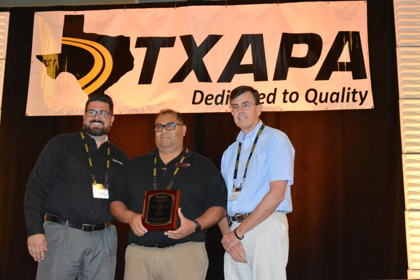 Abraham Munoz; Pavetex Engineering LLC;  Technician of the Year, Soils & Base