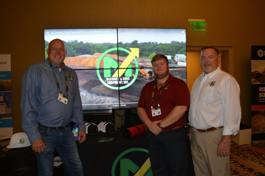 McCourt and Sons Equipment represents McCloskey and several other lines of crushing and screening equipment in Texas and neighboring states. They were represented at the TXAPA conference by (L-R) Sean Fox, Sam Welch and Eamon McCourt, the company's vice-president.