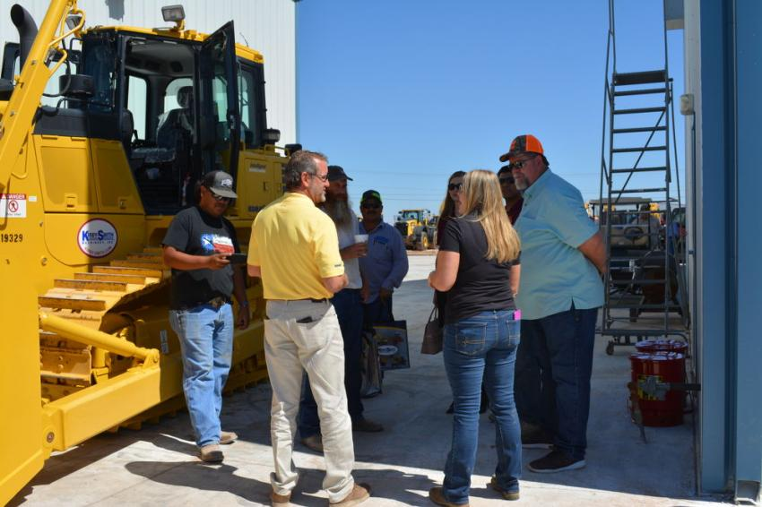 "The D65exi ""intelligent"" dozer drew a steady flow of contractors who wanted to know more about  Smart Control machines."