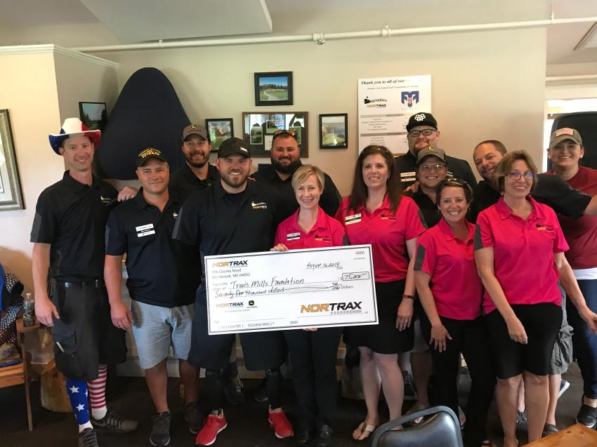 Nortrax raised $75,000 for the Travis Mills Foundation at its annual golf tournament and auction.