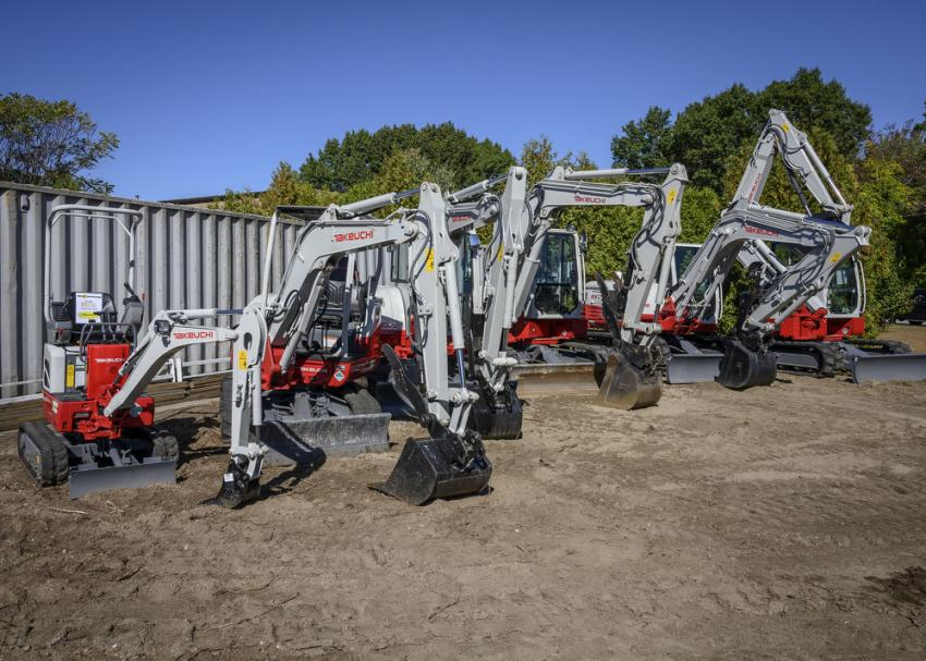 A wide variety of Takeuchi equipment is available to meet the needs of any size job.