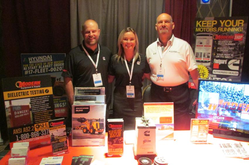(L-R): Ryan Smith, Brianna Hughes and Robert Schumody represented the Modern Group at the UTCA show.