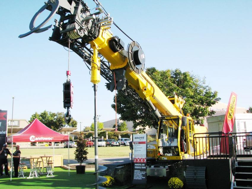 In the Manitowoc exhibit area, a Grove GHC30 was displayed and heavily promoted for its outstanding versatility, ease of transport and ease of operation.