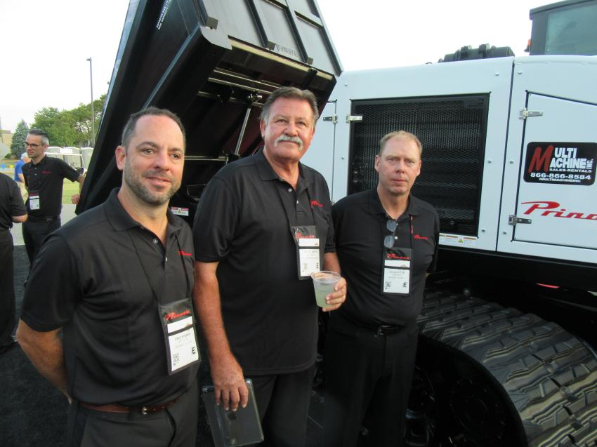 (L-R): Prinoth Ltd.'s Eric Steben, Scott Brown and Doug Little addressed attendees at the company's press conference, discussing its range of tracked vehicles and land clearing equipment as well as the company's custom engineering capabilities in meeting the unique requirements of its clients.