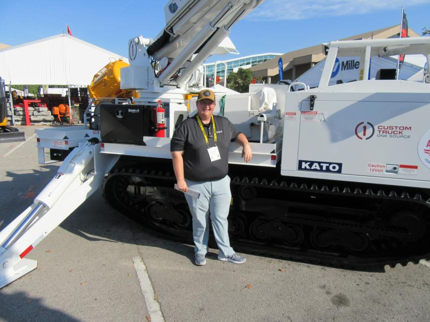 Evan Brown of Kato Compact Excavator Sales was on hand to discuss the company's expanding lineup of excavators, tracked carriers, tracked loaders and skid steers.