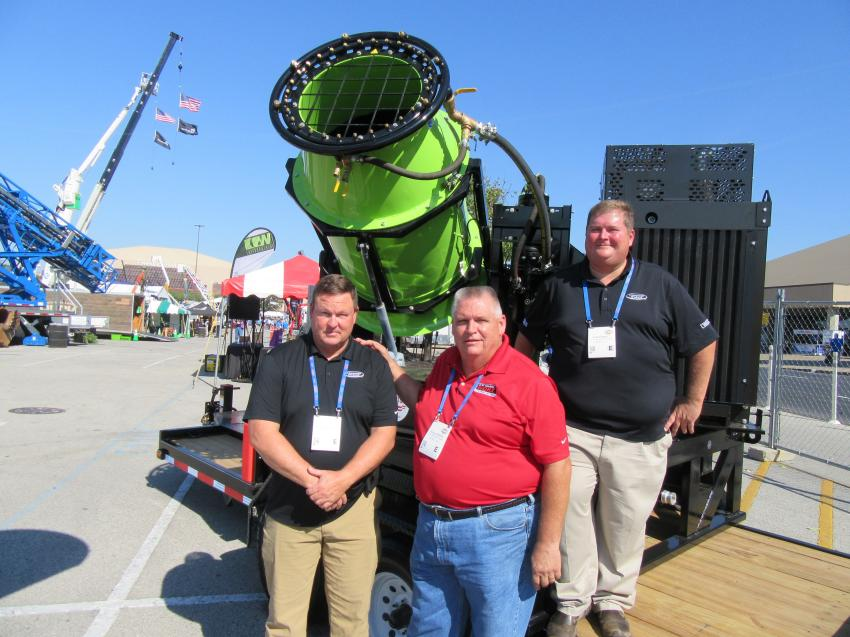 (L-R): Steve Thornbury, Hugh Gordon and Rob Barnett of C.W. Machine Worx spoke with attendees about the company's line of dust suppression equipment.